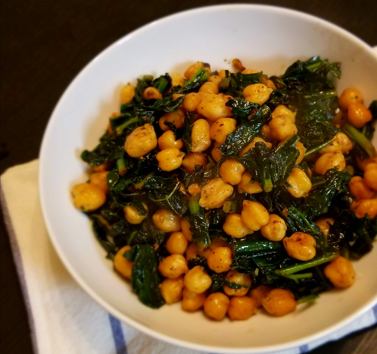 Kale Chickpea Stir-Fry